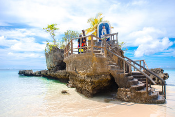 Fotobehang Eiland Boracay island Grotto, Willy's Rock, - Famous and Controversial Landmark , Philippines