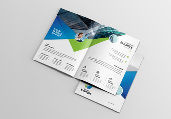 Green and Blue Travel Brochure Layout