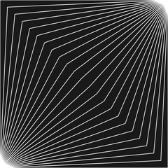 Vector geometric pattern with thin diagonal lines in square form