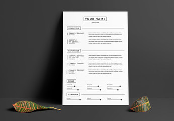 Grayscale Resume Layout