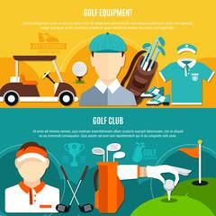 Fototapete - Golf Game Horizontal Banners