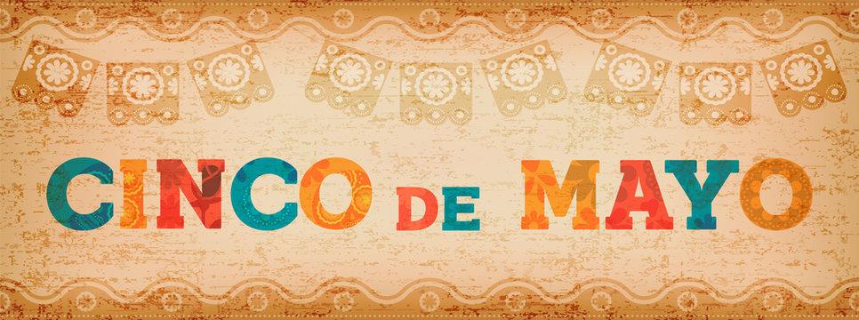 Cinco de mayo fun mexican typography web banner