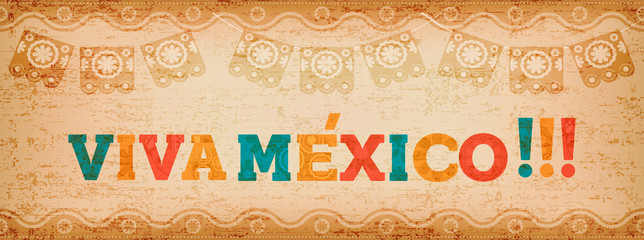 Viva mexico quote web banner for holiday event