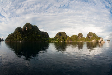 Beautiful Islands of Wayag in Raja Ampat