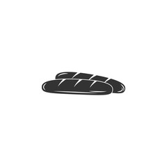 Baguette icon. Simple element illustration. Baguette symbol design template. Can be used for web and mobile