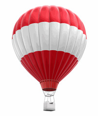 Hot Air Balloon with Austrian Flag. Image with clipping path