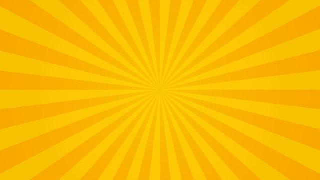 Sun rays sunburst orange yellow background