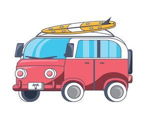 surf van icon over white background, colorful design. vector illustration