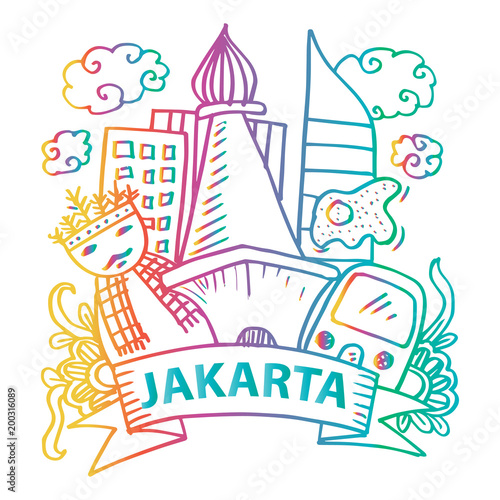 Doodle Of Jakarta Stock Photo And Royalty Free Images On Fotolia