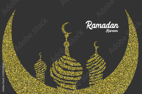Ramadan kareem golden sparkle greeting card muslim islamic eid ramadan kareem golden sparkle greeting card muslim islamic eid mubarak celebration holy arabic religiondesign m4hsunfo