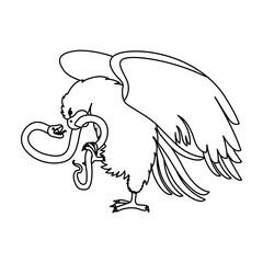 eagle devouring snake mexican emblem