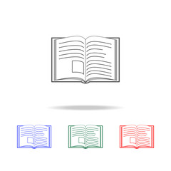 open book icon. Elements of education multi colored icons. Premium quality graphic design icon. Simple icon for websites, web design, mobile app, info graphics