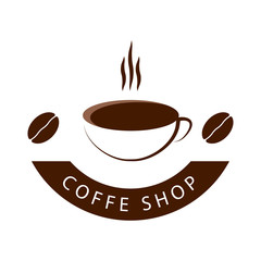 Coffee Shop Vector Template Design Illustration