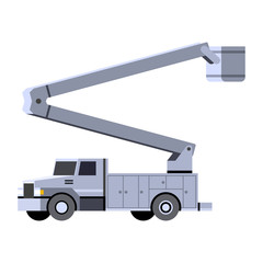 Bucket crane truck vehicle icon