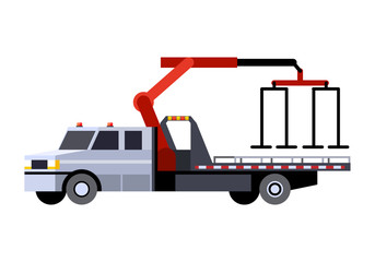 Medium duty car hauler truck vehicle icon