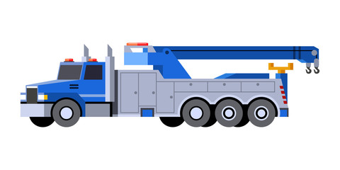 Tow truck vehicle icon