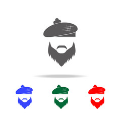 The face of a Scottish man icon. Elements of United Kingdom multi colored icons. Premium quality graphic design icon. Simple icon for websites, web design, mobile app