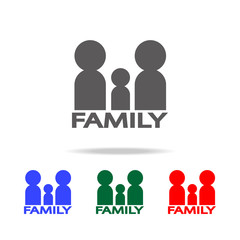 family icon. Elements of family multi colored icons. Premium quality graphic design icon