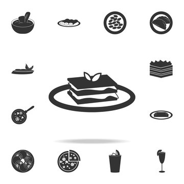 lasagna icon. Detailed set of italian foods illustrations. Premium quality graphic design icon. One of the collection icons for websites; web design; mobile app