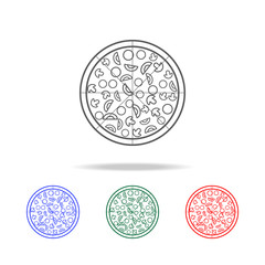 advertising pizza icon. Elements of fast food multi colored line icons. Premium quality graphic design icon. Simple icon for websites, web design, mobile app, info graphics