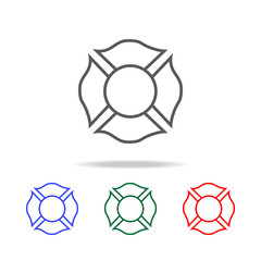 Firefighter emblem icon. Elements of firefighter multi colored icons. Premium quality graphic design icon. Simple icon for websites, web design, mobile app, info graphics