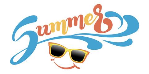 Summer vector banner for your design