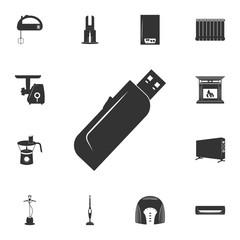 flash card icon. Detailed set of household items icons. Premium quality graphic design. One of the collection icons for websites, web design, mobile app