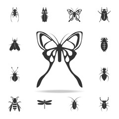 butterfly. Detailed set of insects items icons. Premium quality graphic design. One of the collection icons for websites, web design, mobile app