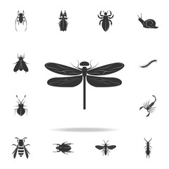 dragonfly. Detailed set of insects items icons. Premium quality graphic design. One of the collection icons for websites, web design, mobile app