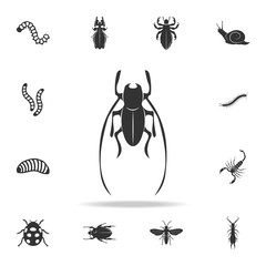 cricket. Detailed set of insects items icons. Premium quality graphic design. One of the collection icons for websites, web design, mobile app