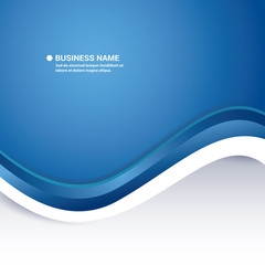Blue Abstract Professional Business Background Design