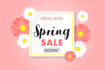 Promotion Background Poster Banner Spring Sale