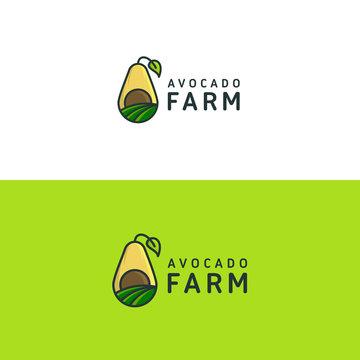 Avocado Farm logo template