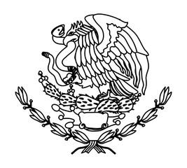 emblem of the mexican flag