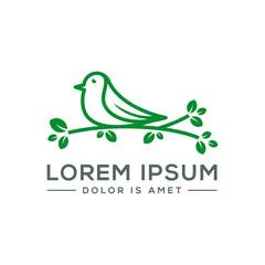 Bird  Leaf Logo Vector Icon Template