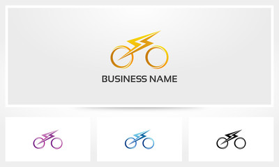 Electric Fast Bicycle Bike Logo