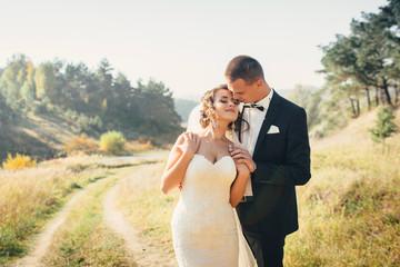 Groom and bride together. Wedding couple.