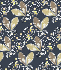 Seamless vector abstract butterfly pattern