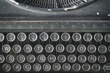 Vintage an old typewriter