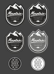 patch snow winter mountain vector logo