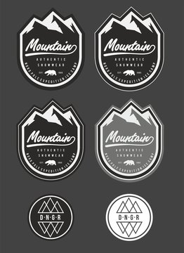 patch snow winter mountain vector logo