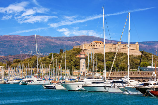Port of Antibes, France.