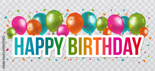 Happy birthday greetings with lettering design and balloons happy birthday greetings with lettering design and balloons transparent background m4hsunfo