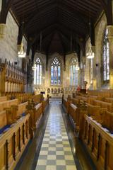 Innenaufnahme Kapelle St. Salvator der Universität von St. Andrews, Gründung 1410, St. Andrews, Fife Region, Schottland, Vereinigtes Königreich, Großbritanien