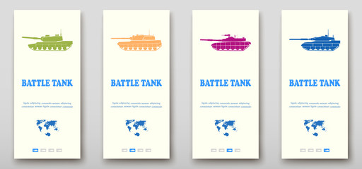 Battle tanks leaflet cover presentation abstract, layout size fold set technology annual report brochure flyer design template vector
