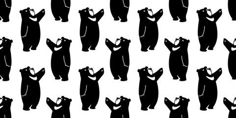 Bear seamless pattern polar bear vector panda isolated teddy background wallpaper