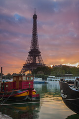 Tour Eiffel from Port Debilly
