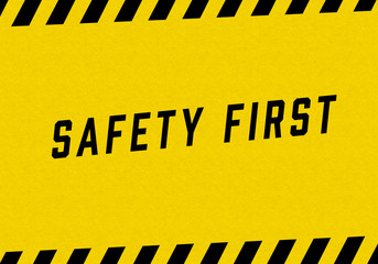 illustration of SAFETY FIRST