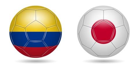 Football. 2018. Colombia, Japan