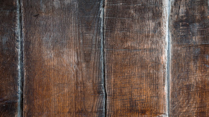 wooden texture, old dark brown wooden boards, old wood background